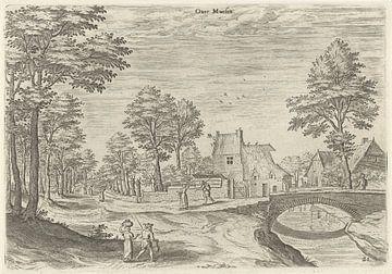 Hans Collaert (I), Gezicht op de weg naar de Brusselse stadspoort Overmolen van Atelier Liesjes
