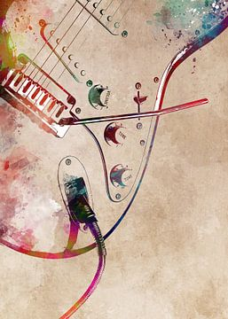 Gitaar 16 muziekkunst #gitaar #muziek van JBJart Justyna Jaszke