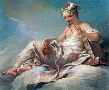 Komedie - Pierre Charles Trémolières, 1736 van Atelier Liesjes