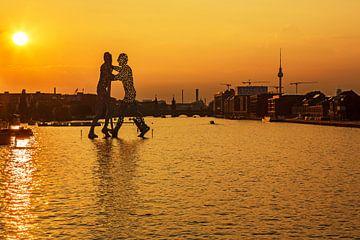 Berlin Skyline am alten Osthafen von Frank Herrmann