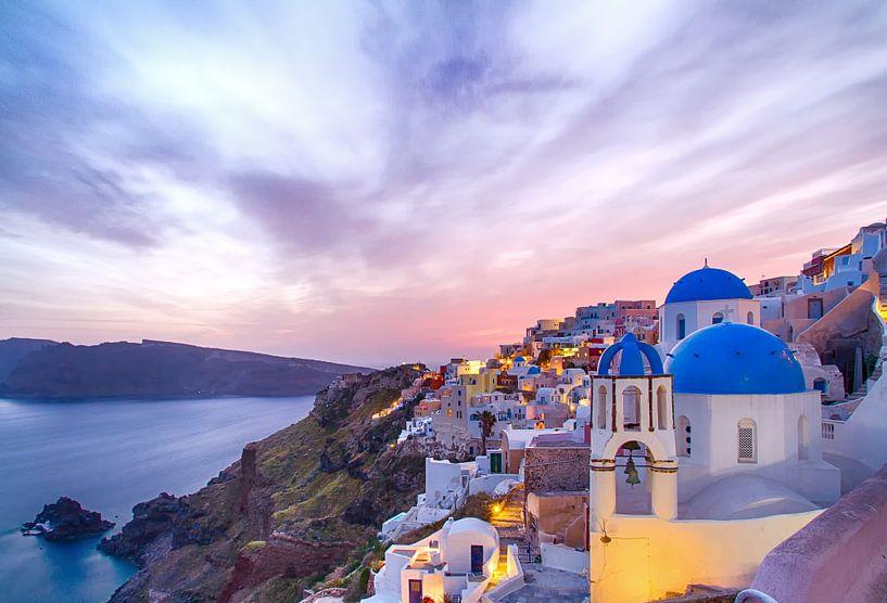 Oia Sunset II, Santorini von Erwin Blekkenhorst