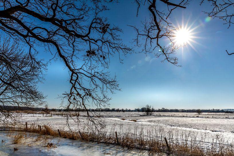 Historisch Winters Landschap in Amerongen van Jacques Jullens