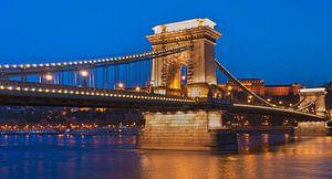Kettenbruecke Budapest, Ungarn von