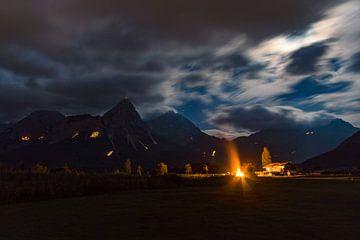 Bergfeuer bei Ehrwald von Michael Pedrotti