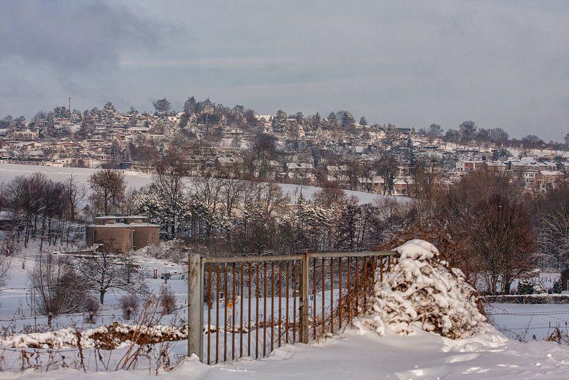 De Huls bij Simpelveld in de sneeuw van John Kreukniet