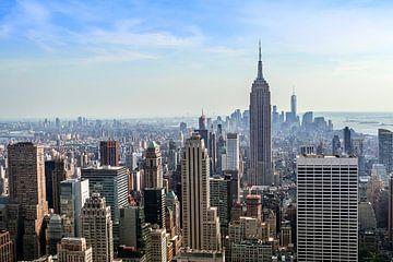 New York Manhattan skyline von Nannie van der Wal