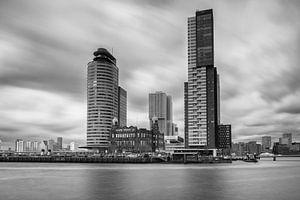 Kop van zuid Rotterdam in black & white