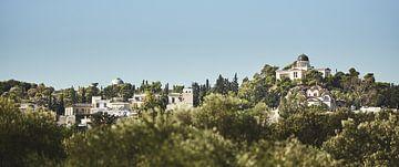 Uitzicht op sterrenwacht Athene van Bart Rondeel