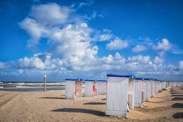 Het strand bij Katwijk van Peet Romijn