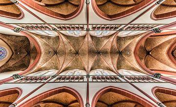 Le plafond de l'église sur Werner Lerooy