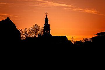 Zonsondergang stadhuis Maastricht van Aron Nijs