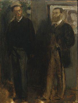 Deux hommes, Edgar Degas sur