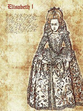 Elizabeth I van Printed Artings