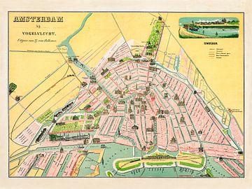 Amsterdam aus der Vogelperspektive - 1882