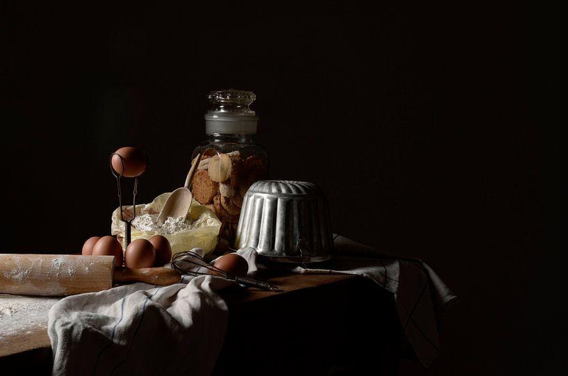 Stilleven van bakkerstafereel van Annet van Esch