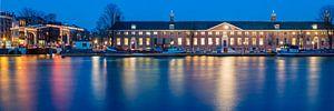 De Hermitage, Amsterdam bij avond van
