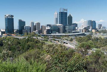 Skyline van Perth, West-Australië van Alexander Ludwig