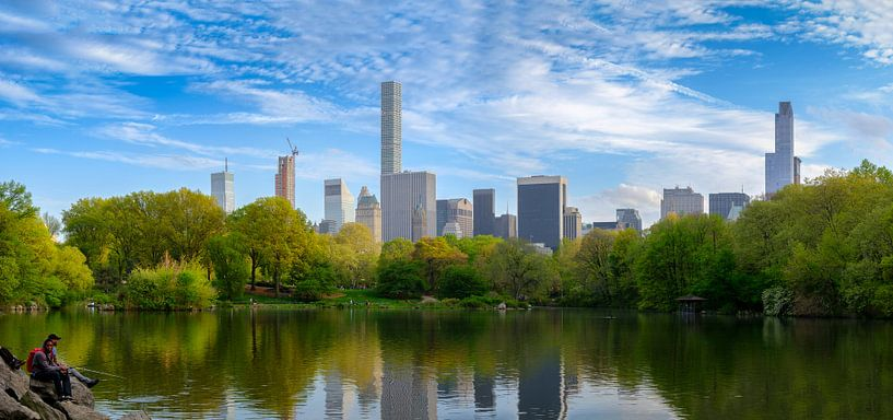Central Park in New York in de lente van Mark De Rooij