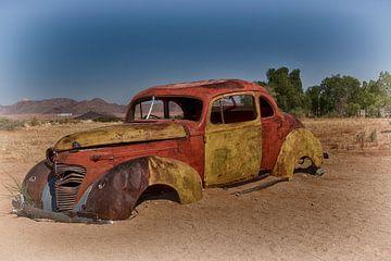 Oldtimer im Solitär Namibia von Danielle van Leeuwaarden