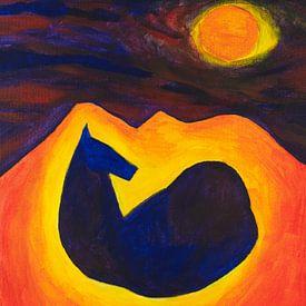 paard in de nacht (2) van Verbeeldt