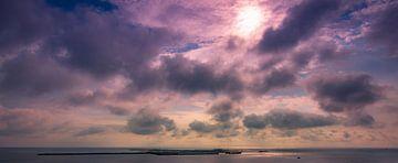 Zonsondergang Dune Noordzee van Randy van Domselaar