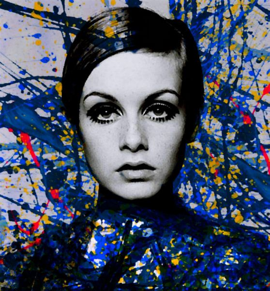 Miss Twiggy - Extreme Splash - Pollock Style  von Felix von Altersheim