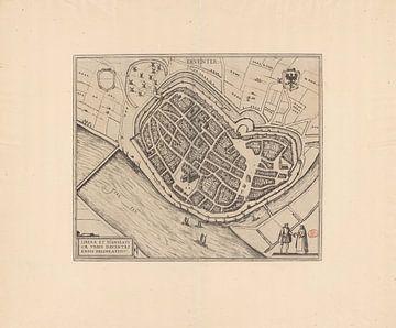 Karte von Deventer von 1582