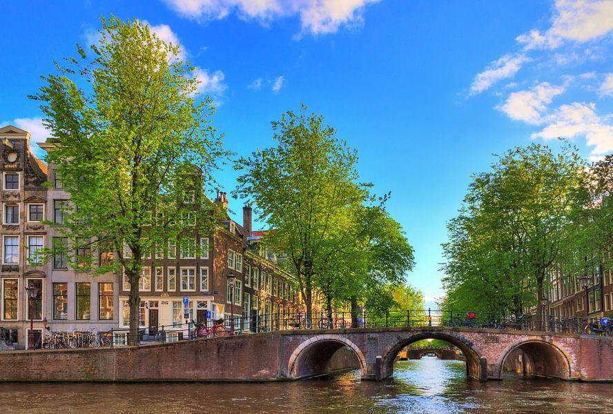 Herengracht Amsterdam in de lente van Dennis van de Water