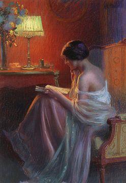 Bei der Lektüre des Briefes, Delphin Enjolras (1857-1945) von Atelier Liesjes