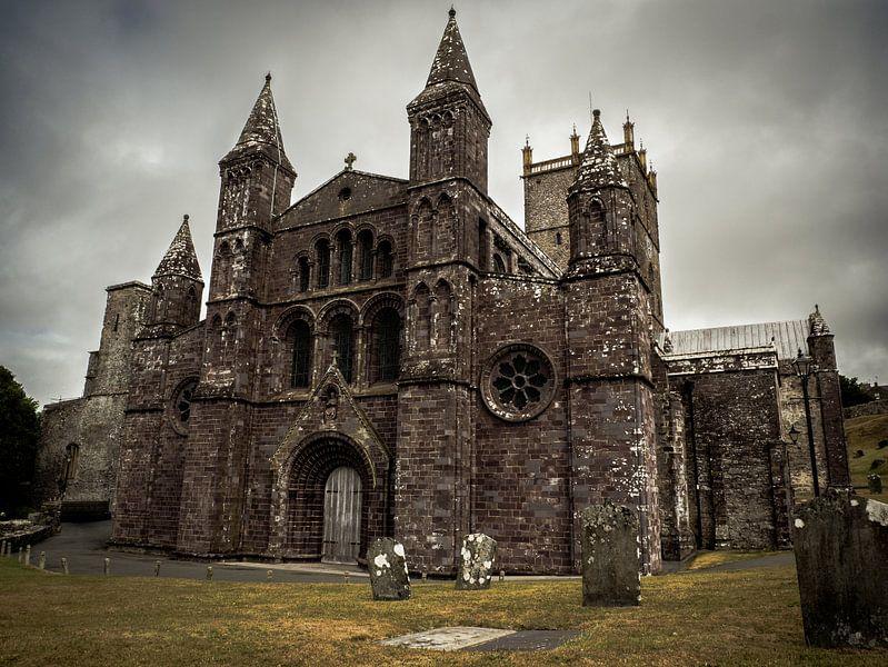 Kathedraal van St Davids, Wales van Art By Dominic
