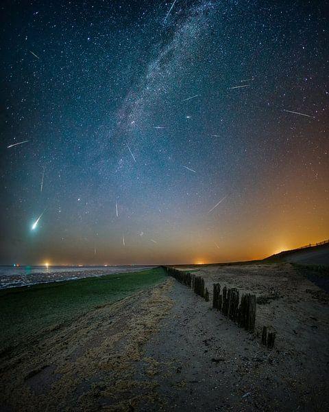Perseïden meteoren regen