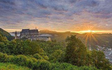 Kasteel van Vianden in Luxemburg van Michael Valjak