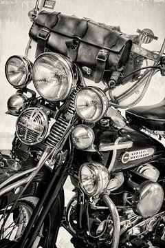 De Vintage Harley Davidson II BW van Martin Bergsma