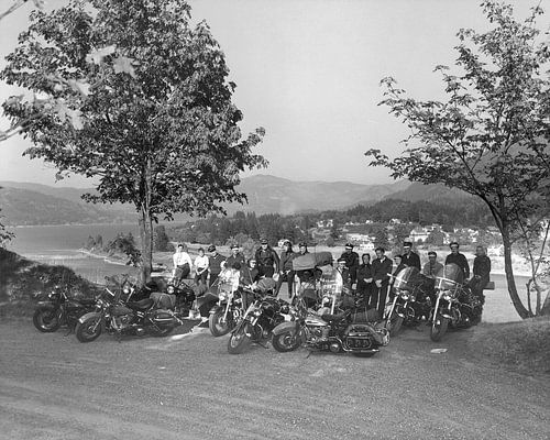 Ride-out 1949 Harley Davidson van