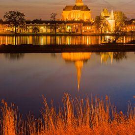 Stadsfront van Kampen in de avond von Paul Kaandorp