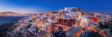 Avond op het eiland Santorini in Griekenland van Fine Art Fotografie