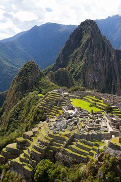 Machu Picchu, Peru - een bovenaanzicht van