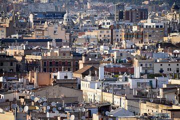 Barcelona, stadsgezicht van Maren Oude Essink