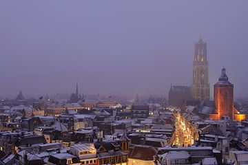 De binnenstad van Utrecht tijdens een mistige Valentijnsavond sur Donker Utrecht