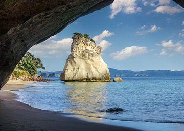 Kust bij Cathedral Cove, Nieuw Zeeland van Christian Müringer