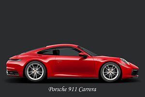 Porsche 911 Carrera, avec texte blanc