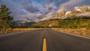 Road to the Grand Tetons Wyoming van Kees Jan Lok