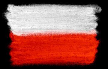Symbolische nationale vlag van Polen van Achim Prill