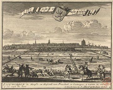 Ansicht von Leeuwarden, Jacob Folkema, 1702 - 1725