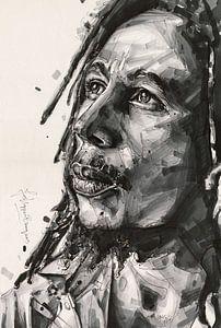 Bob Marley schilderij van Jos Hoppenbrouwers