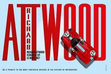 Richard Attwood Ferrari 412P Tribute van Theodor Decker
