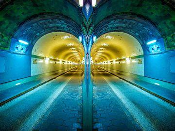 Hamburg: twee buizen van de oude Elbe tunnel # 2 van Norbert Sülzner