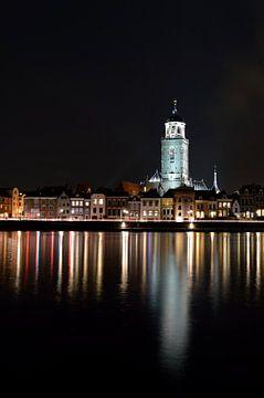 Deventer bij nacht van Lambertus van der Vegt