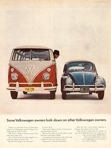 Vintage VW Advertentie 1964 van