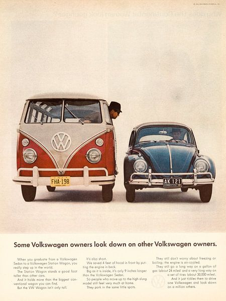 Oldtimer VW Anzeige 1964 von Jaap Ros